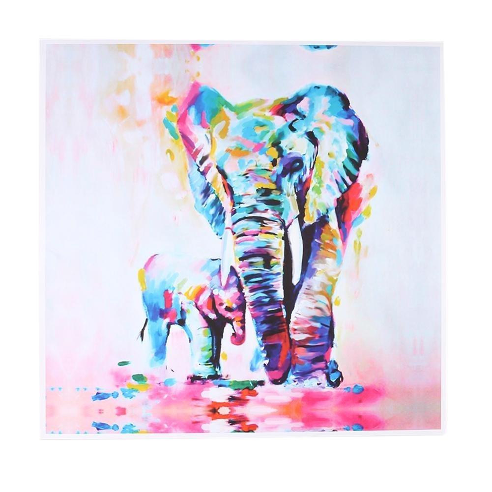 Loa Watercolor Elephant Oil Colorful